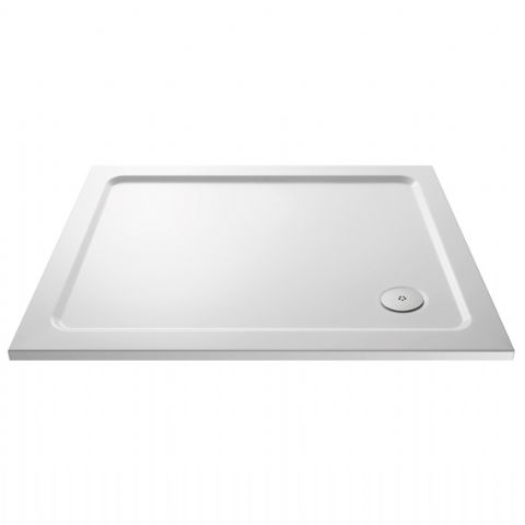 Ultra Pearlstone 1000mm x 800mm Rectangular Shower Tray